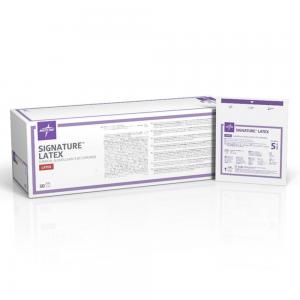 Box of 50 Sterile Medline Signature Latex Gloves