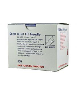 Box of 100 Blunt Irrigation Needles