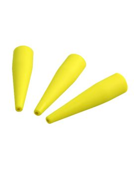 Pack of 3 yellow Autoclavable silicone tips