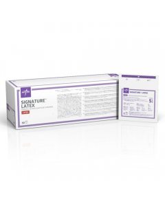 Medline Signature Latex Gloves, Sterile, box 50