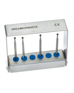 Nichrominox Dental Bur Holder with 6 Holes for HP Burs and Drills
