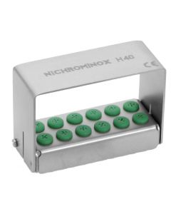 Nichrominox Bur Holder 12 Hole for FG and RA Burs and Drills