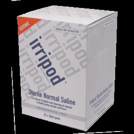 Box of 25x20ml pods of Irripod Sterile Normal Saline