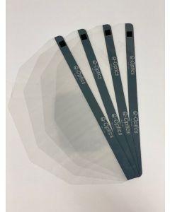 Q-Optics Replacement Face Shield / Visor, pk4