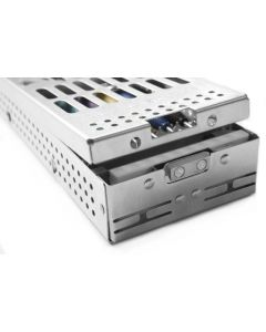 PDT 7 Instrument Cassette, Liftout Rack with Space, Holds 14 Instruments,  203x92x32mm. Ref: T007 B-L